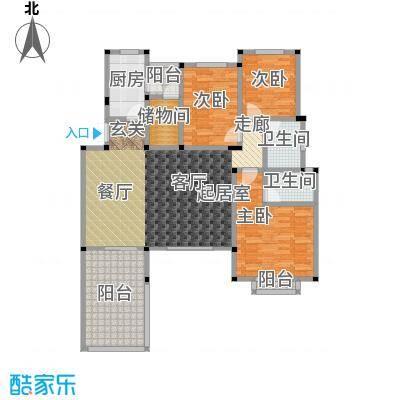 万润一品苑145.00㎡四室两厅两卫,建筑面积约145㎡户型4室2厅2卫
