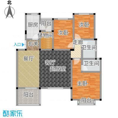 万润一品苑129.00㎡三室两厅两卫,建筑面积约129㎡户型3室2厅2卫