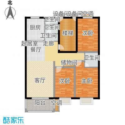三禾城中城138.06㎡建筑面积约138.06平米,三房二厅二卫户型3室2厅2卫