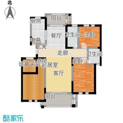 中港城世家122.00㎡B6户型三室两厅一卫-T