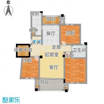 中港城世家141.00㎡B2户型三室两厅两卫-T