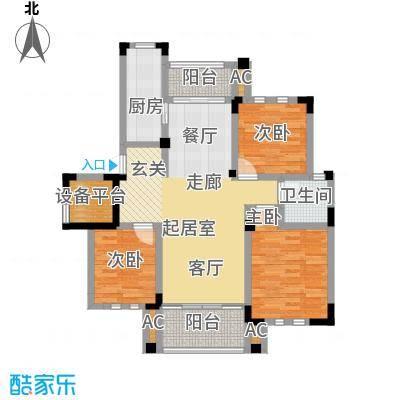 中港城世家115.00㎡B1户型3室2厅1卫-T