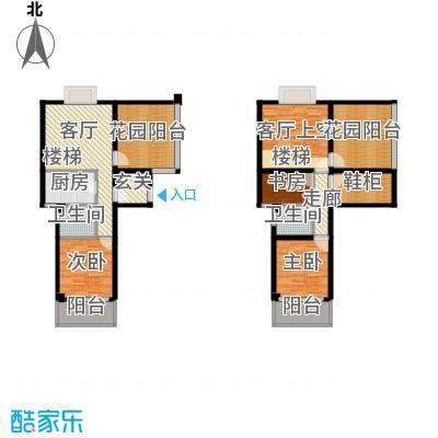 东方领秀118.24㎡复式M:楼中楼,建筑面积约118.24㎡户型