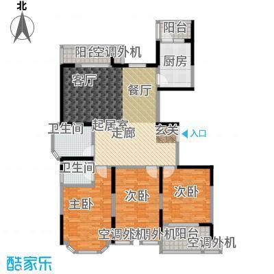 名豪天台苑140.00㎡3D户型,建筑面积约140㎡户型3室2厅2卫