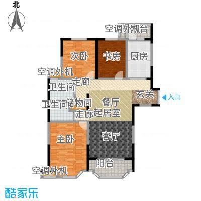 名豪天台苑140.00㎡3B户型,建筑面积约140㎡户型3室2厅1卫