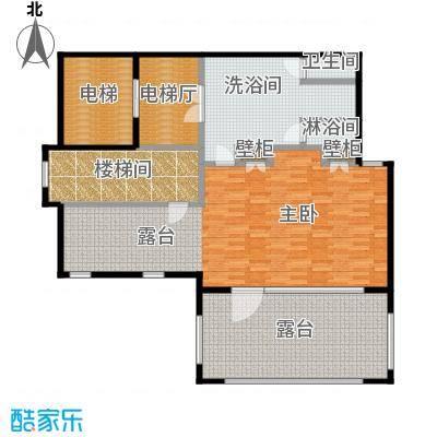 万科双月湾120.00㎡高层洋房户型1室1厅1卫户型1室1厅1卫