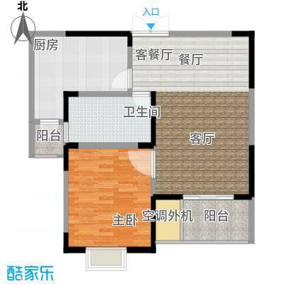 汇智・阳澄华庭68.00㎡C户型1室2厅1卫1厨 68.00平米户型1室2厅1卫