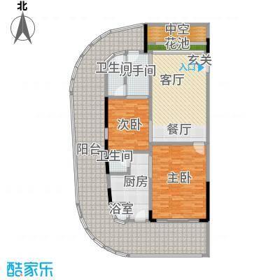 檀悦豪生度假酒店公寓181平米公寓户型2室2厅2卫