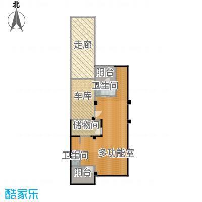观林一品104.51㎡D地下层平面图户型1室2厅1卫