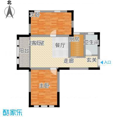 上海大公馆93.10㎡A户型,精品华宅户型2室2厅1卫