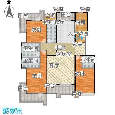 梧桐府213.00㎡洋房I户型 3室2厅3卫213平户型3室2厅3卫