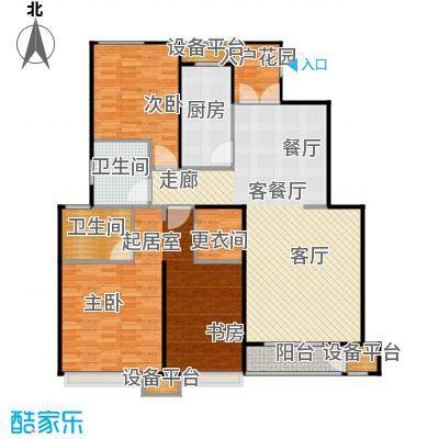 铂悦派139.00㎡C1a户型 3室2厅1卫 139平户型3室2厅1卫