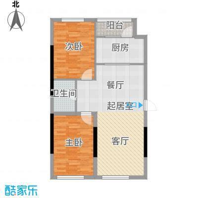 万星幸福城90.41㎡万星幸福城1#楼G5户型2室2厅1卫1厨 90.41㎡户型2室2厅1卫