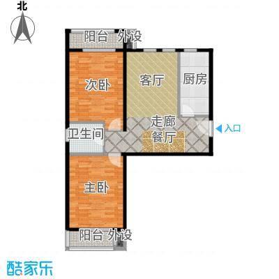 嘉美广场108.00㎡嘉美广场7#楼B8户型2室1厅1卫
