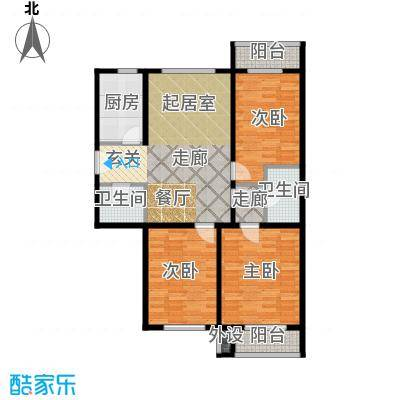 嘉美广场136.00㎡嘉美广场3#楼C1户型3室2厅1卫