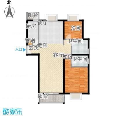 如东中央广场I户型2室2厅2卫1厨 100.00㎡户型