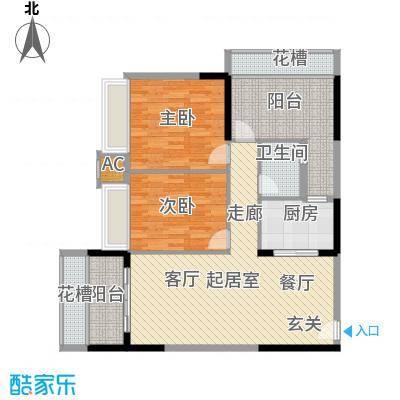 润福壹号公馆105.30㎡2栋04户型4栋3室2厅2卫QQ
