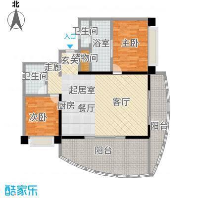 华润小径湾138.00㎡点式平层二房C型2室2厅2卫1厨CC