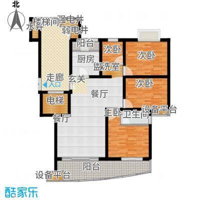 香榭水岸四期公寓户型4室1厅1卫1厨