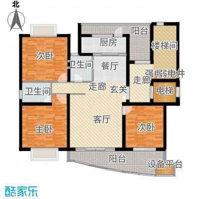 香榭水岸四期公寓户型3室1厅2卫1厨