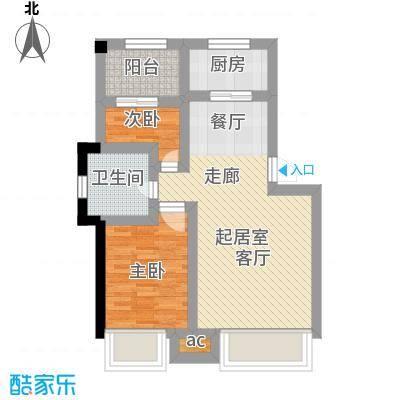 益田枫露89.00㎡89平米户型2室1厅1卫