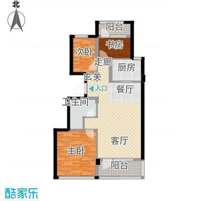 绿城理想之城户型3室1厅1卫1厨
