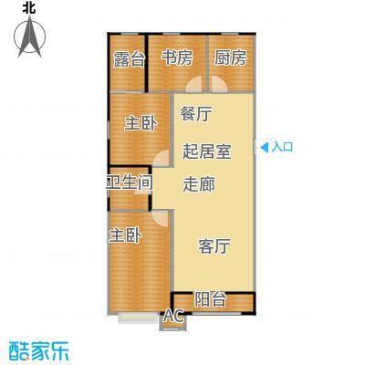渤海豪庭115.60㎡三室两厅一卫115.6平米户型3室2厅1卫