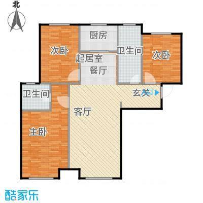 林凯城C1三室两厅两卫117㎡户型3室2厅2卫