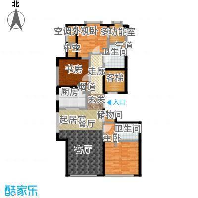 绿城南湖春晓127.00㎡C三室两厅两卫127平米户型3室2厅2卫