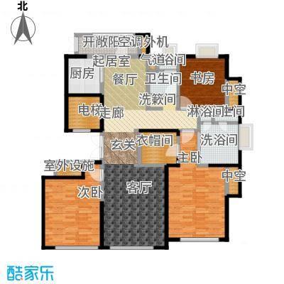 绿城南湖春晓165.00㎡D2三室两厅两卫165平米户型3室2厅2卫