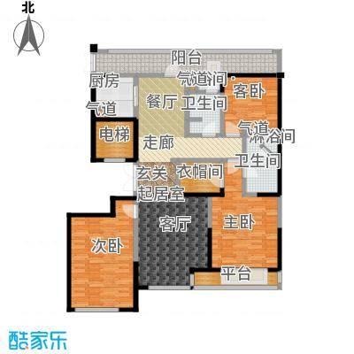 绿城南湖春晓160.00㎡D1三室两厅两卫160平米户型3室2厅2卫
