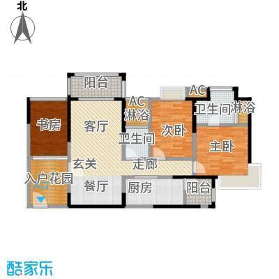 太东时尚岛112.44㎡米户型3室2厅2卫S