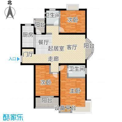 逸景湾133.71㎡5号楼133平米3房户型3室2厅2卫