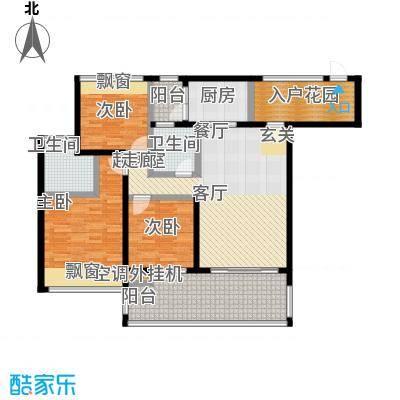 新怡豪门C户型 约110.81平米 3房2厅2卫户型3室2厅2卫