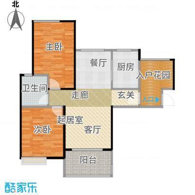碧桂园生态城91.40㎡高层洋房J483户型3室2厅1卫