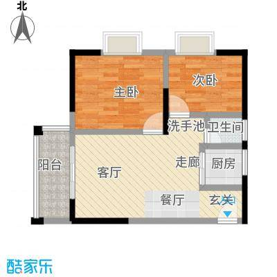 和瑞深圳青年二期2房2厅1卫户型2室2厅1卫LL