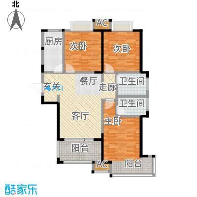 荣盛云龙观邸7号B东户三室两厅两卫建筑面积约119㎡户型LL