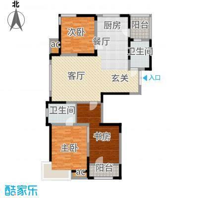 彩凤山城观邸126.00㎡D户型3室2厅2卫