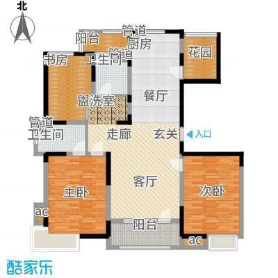 彩凤山城观邸128.00㎡F户型3室2厅2卫