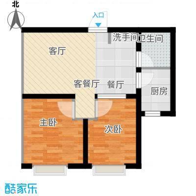 吴中北国之春64.00㎡G1户型2室2厅1卫