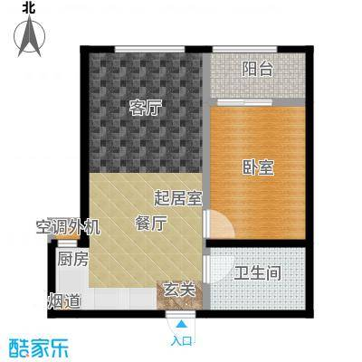 天承锦绣61.39㎡G-3户型1室2厅1卫