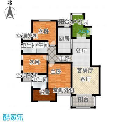 左岸尚海湾146.00㎡5/6号楼A户型3室2厅2卫