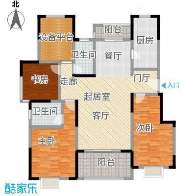 可逸兰亭130.00㎡130平米三房户型3室2厅2卫