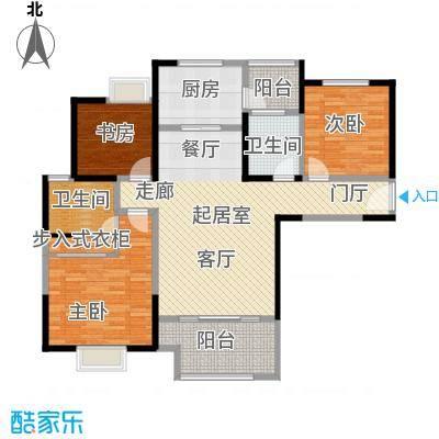 可逸兰亭107.00㎡可逸兰亭一期3号楼E1户型2室2厅2卫1厨 107.00户型2室2厅1卫