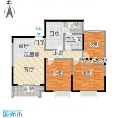 可逸兰亭92.00㎡可逸兰亭一期1、2号楼F2户型2室2厅1卫1厨 92.00平米户型2室2厅1卫