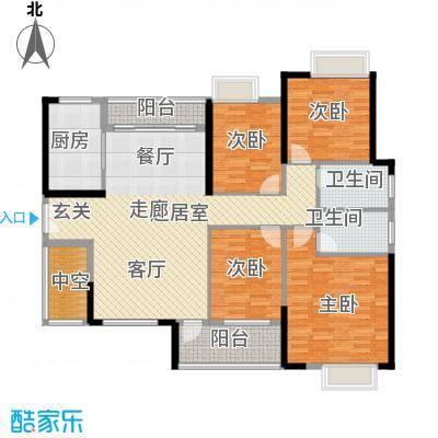 九江中航城140.00㎡D户型4室2厅2卫