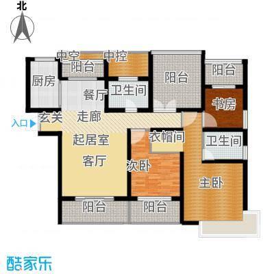 中科苑141.00㎡141平米 三室两厅两卫户型3室2厅2卫