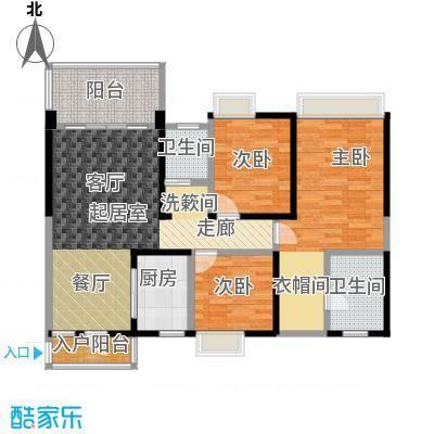 清泉城市广场9栋06户型3室2厅2卫
