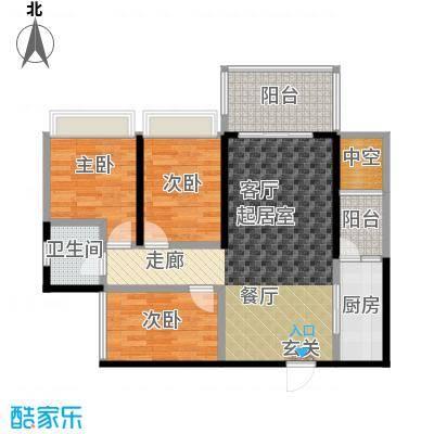 清泉城市广场8,9栋05户型2室2厅1卫
