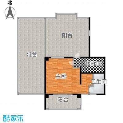 鑫苑世家192平米跃层(第二层――一室一卫)户型1室1卫